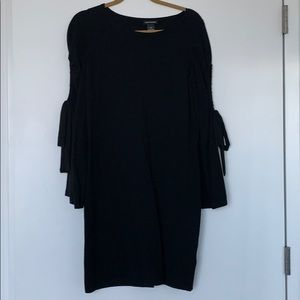 Club Monaco Black 100% Wool Sweater Dress (Size L)